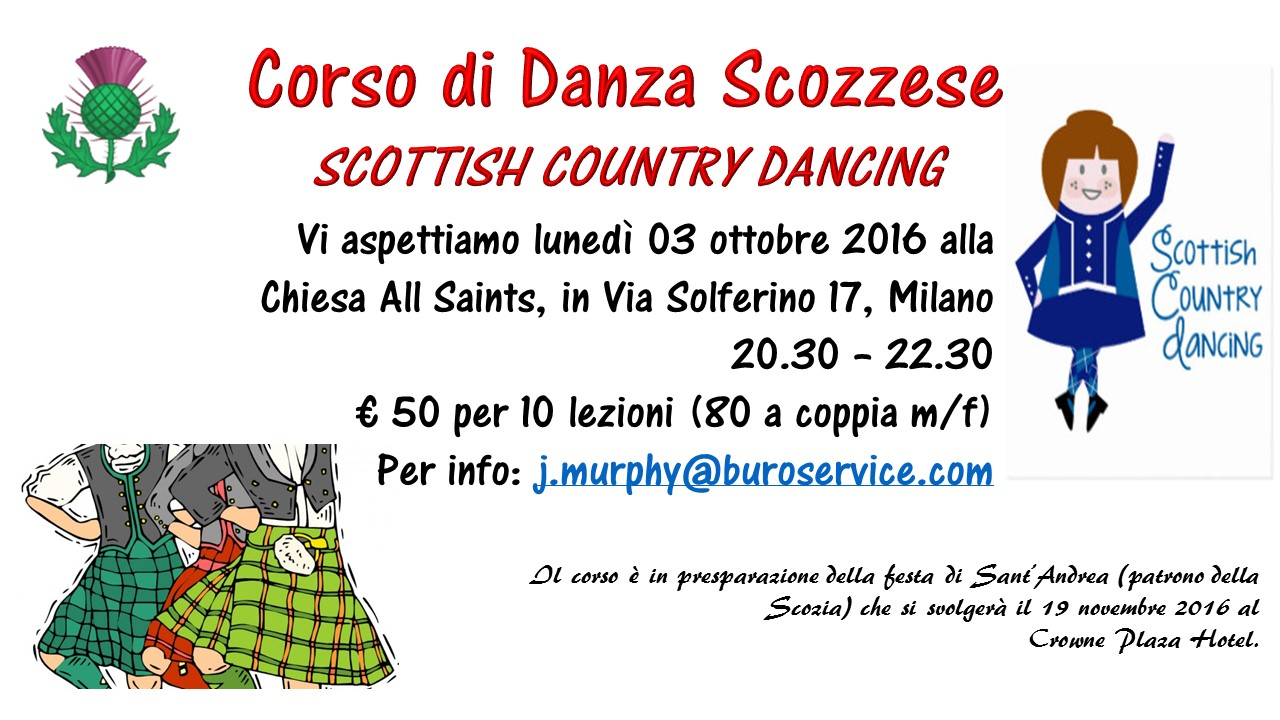 Scottish Country Dancing Dancing Courses at All Saints